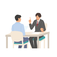 Business negotiation male illustration Consultation