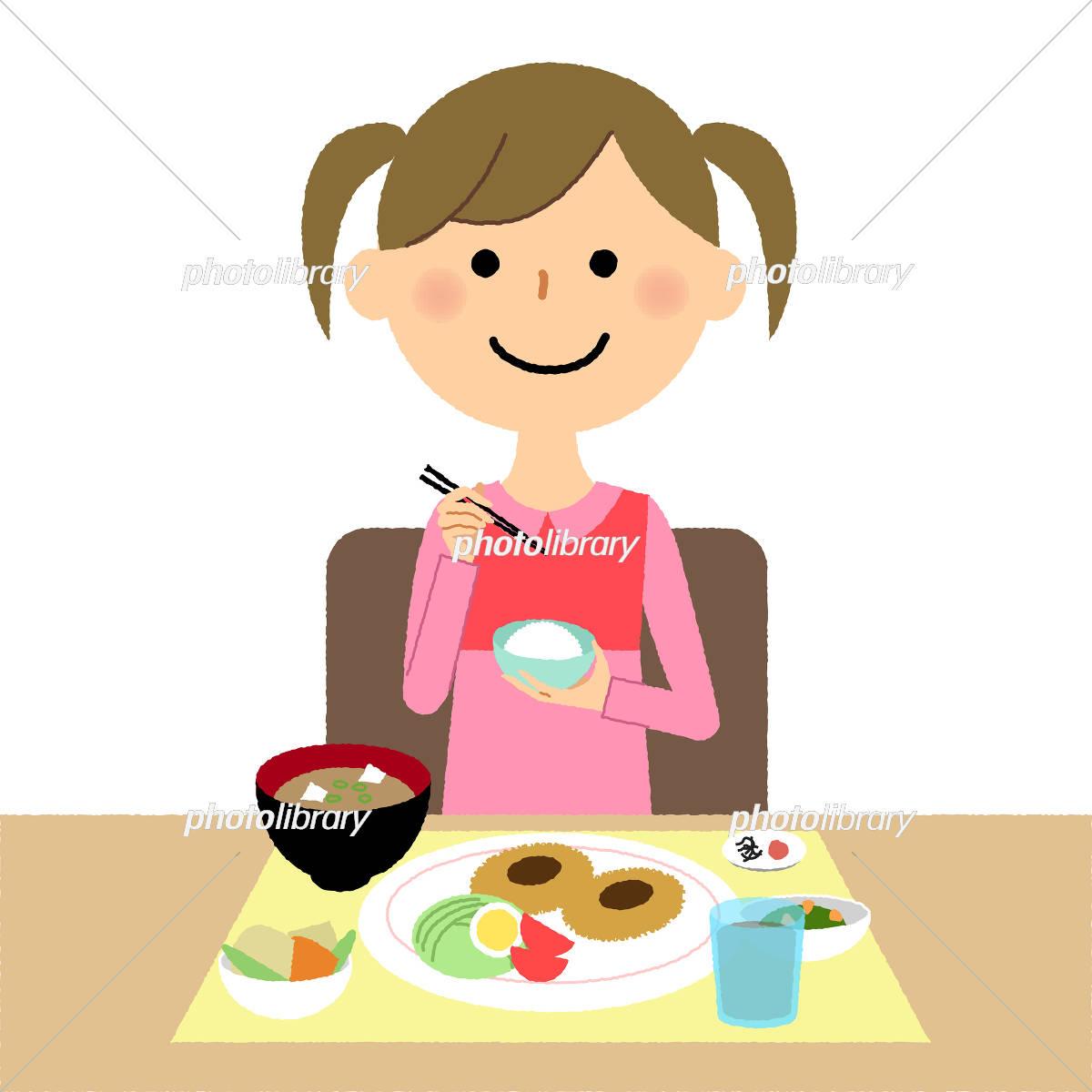 女の子 食事 イラスト素材 5484976 フォトライブラリー Photolibrary