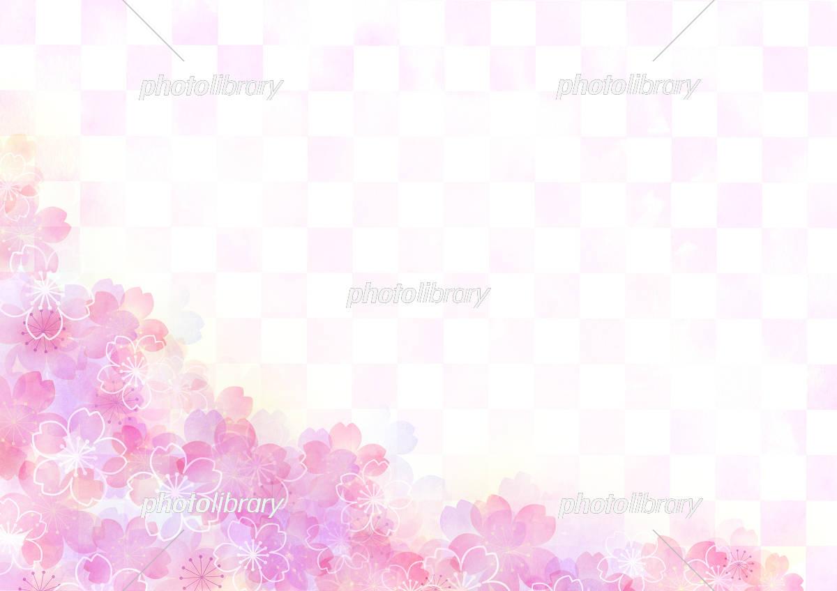 桜壁紙 イラスト素材 5487188 フォトライブラリー Photolibrary