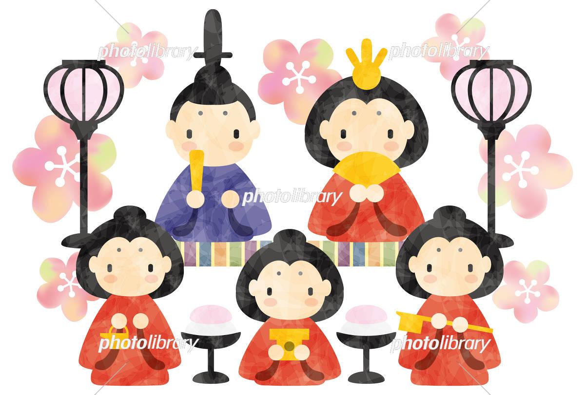 ひな祭り 雛人形 イラスト素材 5492753 フォトライブラリー