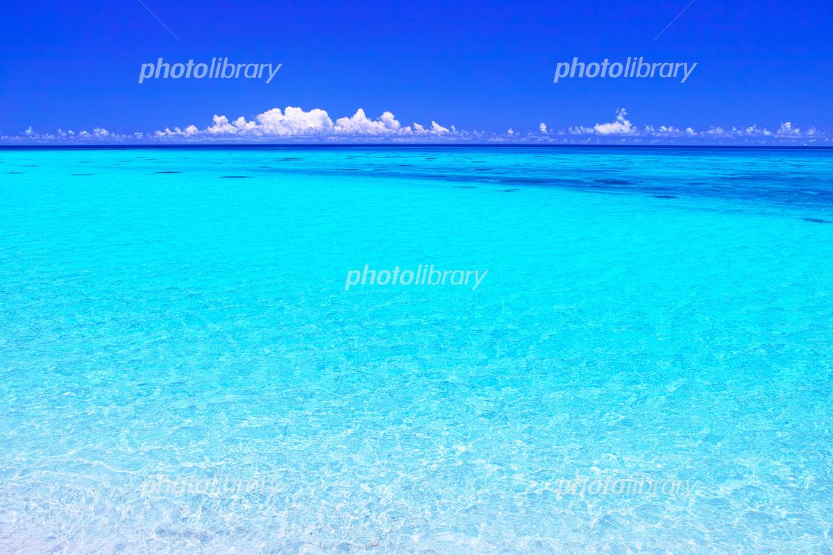 真夏の宮古島下地空港沿いに広がる綺麗な海 写真素材 5524089
