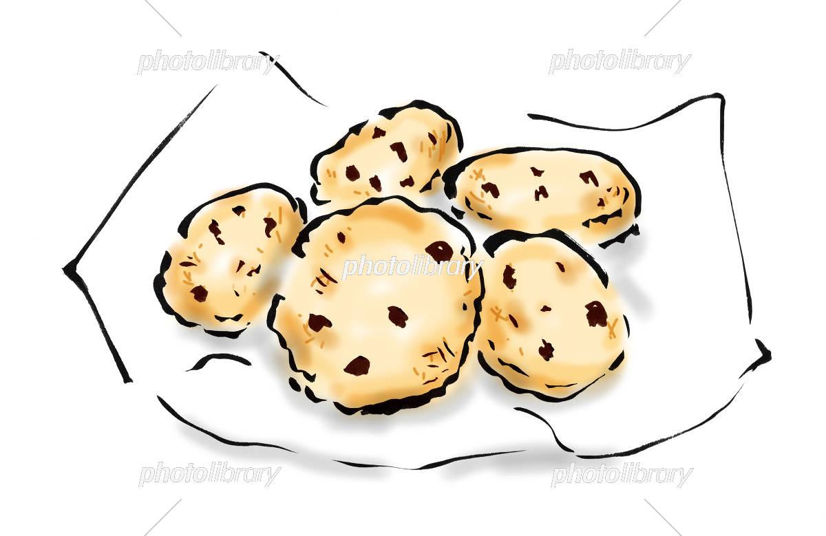 チョコチップクッキー イラスト素材 5524770 フォトライブラリー