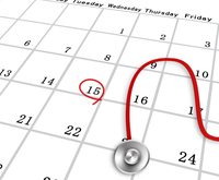 Health care health care medical examination calendar electrocardiogram Stethoscope