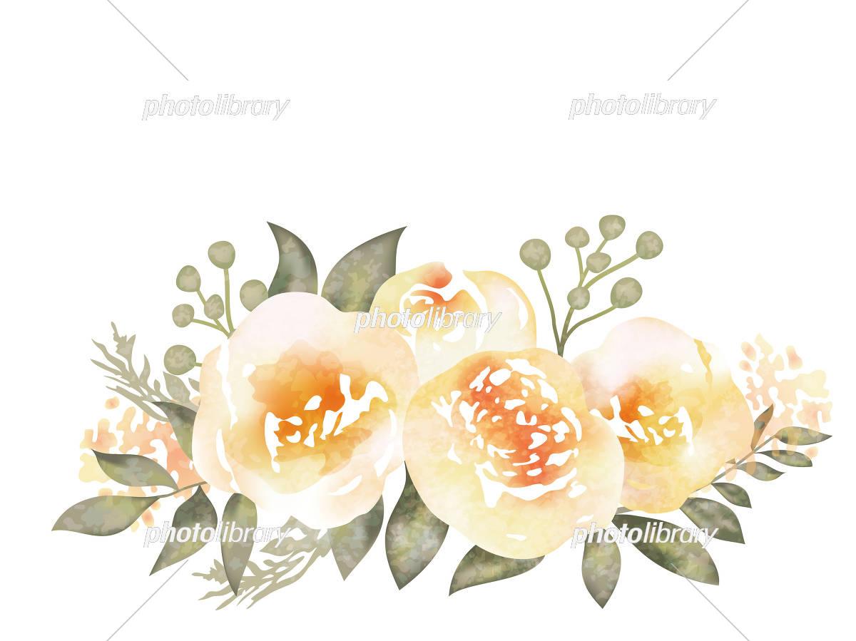 水彩風 花の背景イラスト イラスト素材 [ 5551338 ] - フォトライブ