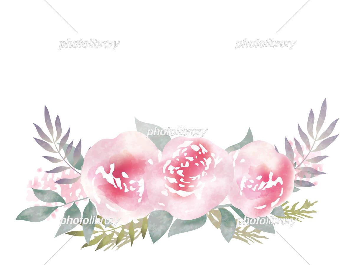 水彩風 花の背景イラスト イラスト素材 [ 5554278 ] - フォトライブ
