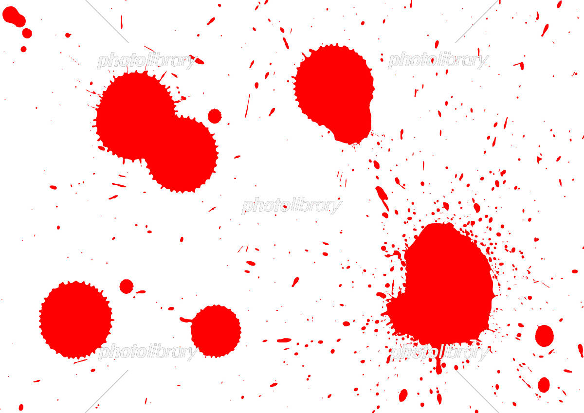 飛沫 赤 塗料 飛散 イラスト素材 5556869 フォトライブラリー