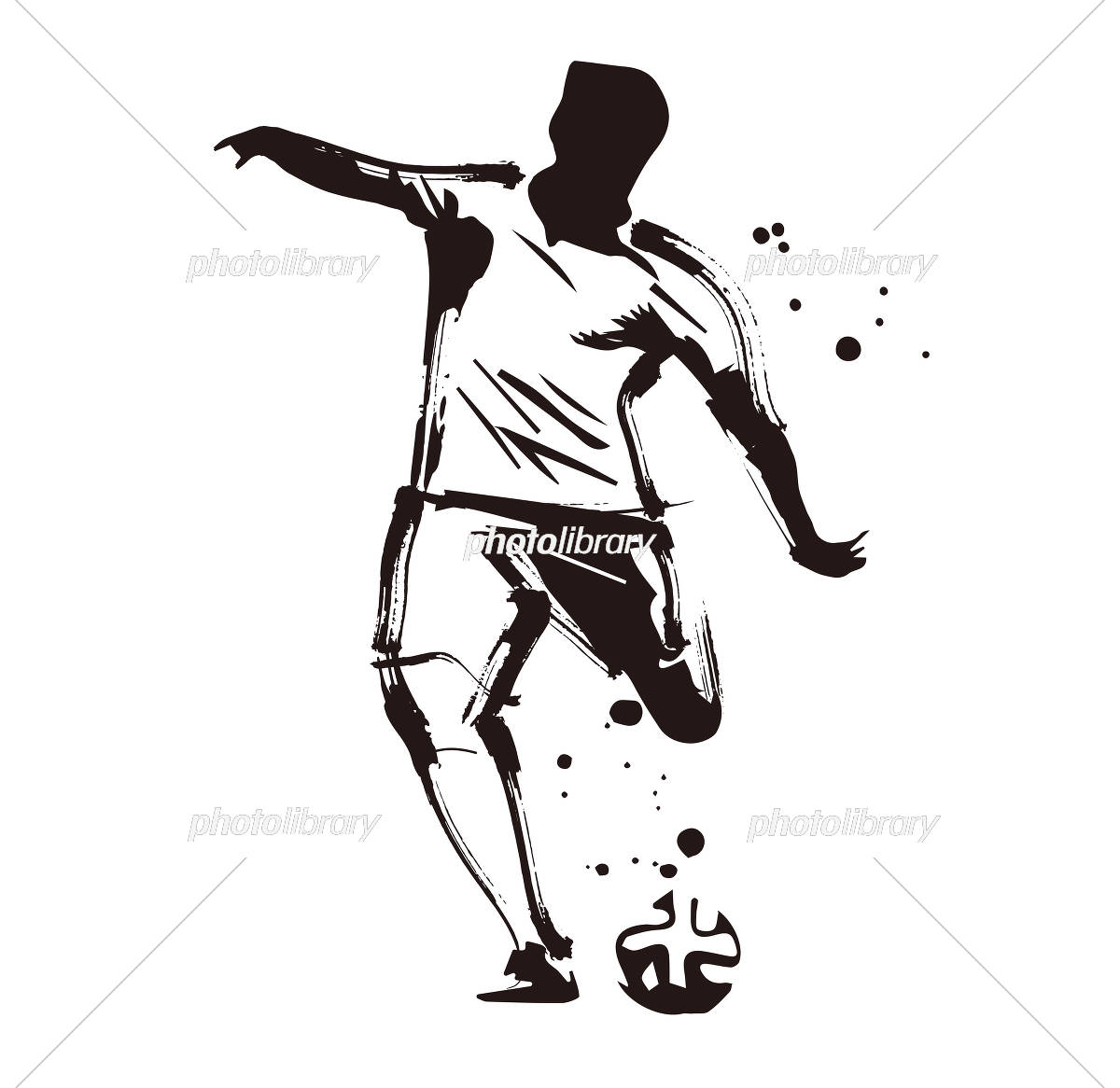 サッカー イラスト素材 5557559 フォトライブラリー Photolibrary