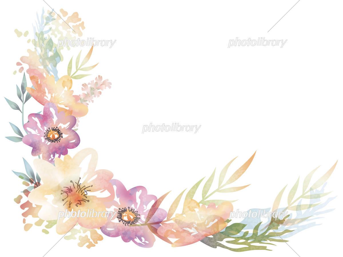 水彩風 花の背景イラスト イラスト素材 [ 5557914 ] - フォトライブ