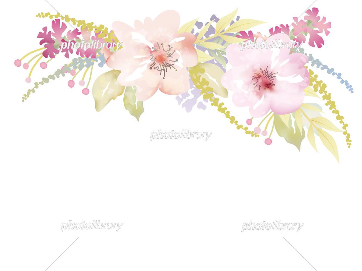 水彩風 花の背景イラスト イラスト素材 [ 5557917 ] - フォトライブ
