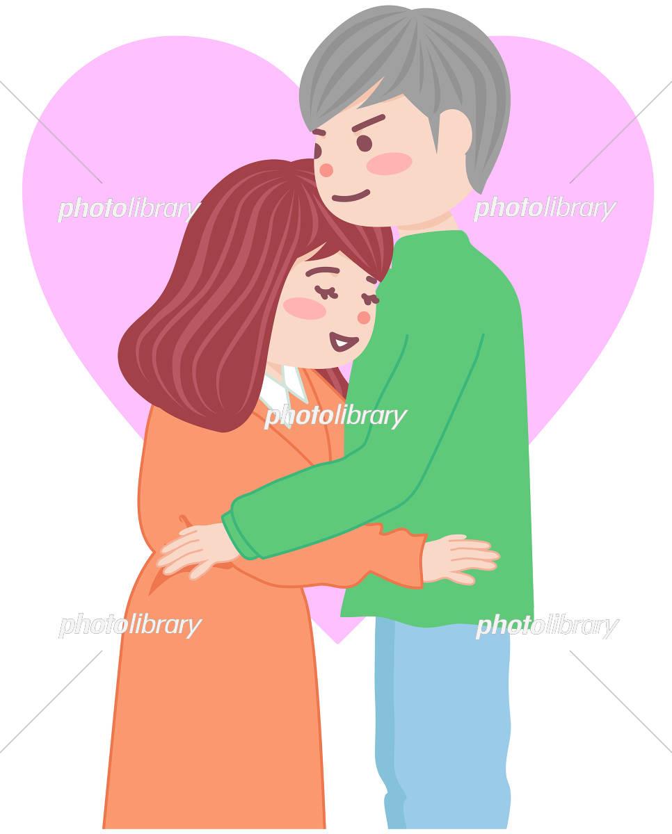 抱き合うカップル イラスト素材 [ 5590167 ] - フォトライブラリー
