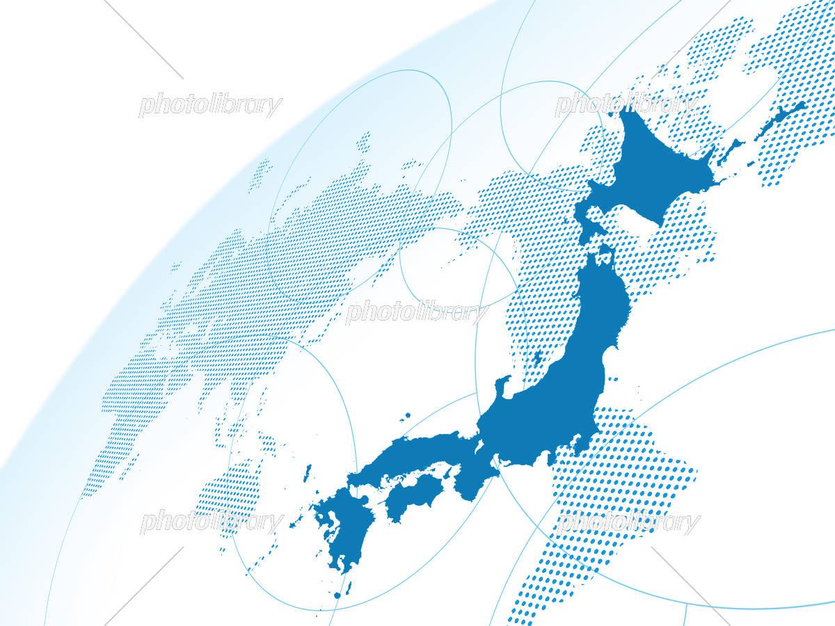 日本地図 グローバル 世界販売 世界地図 経済 貿易 ビジネス イラスト ...