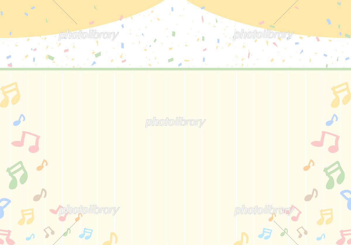 音符 紙吹雪 イラスト素材 [ 5594822 ] - フォトライブラリー photolibrary