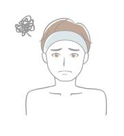 イラスト Men suffer from skin care(5589239)