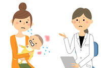 Women's medical examination examination in white labia Baby An
