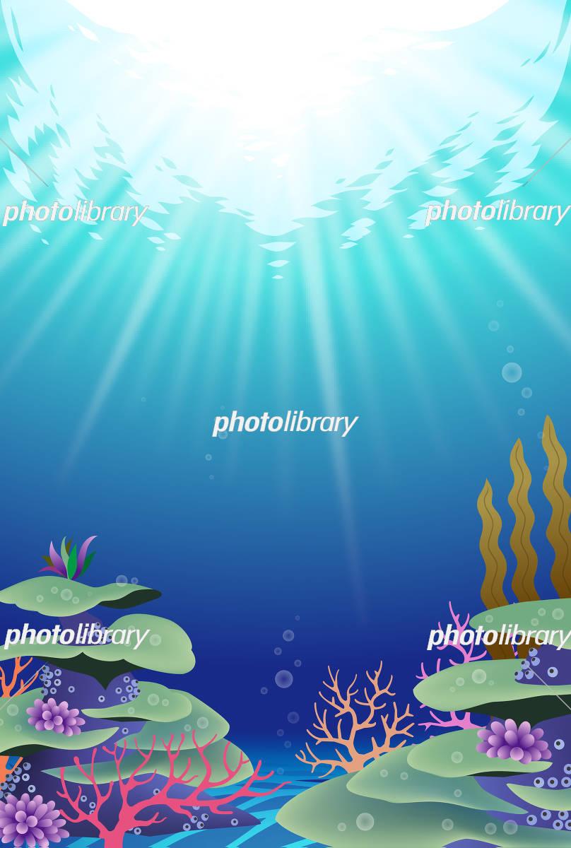 海の中の風景 珊瑚礁 サンゴ礁 イラスト素材 5628720 フォトライブ