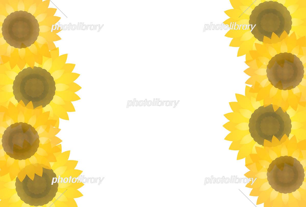 ひまわりフレーム イラスト素材 [ 5634809 ] - フォトライブラリー