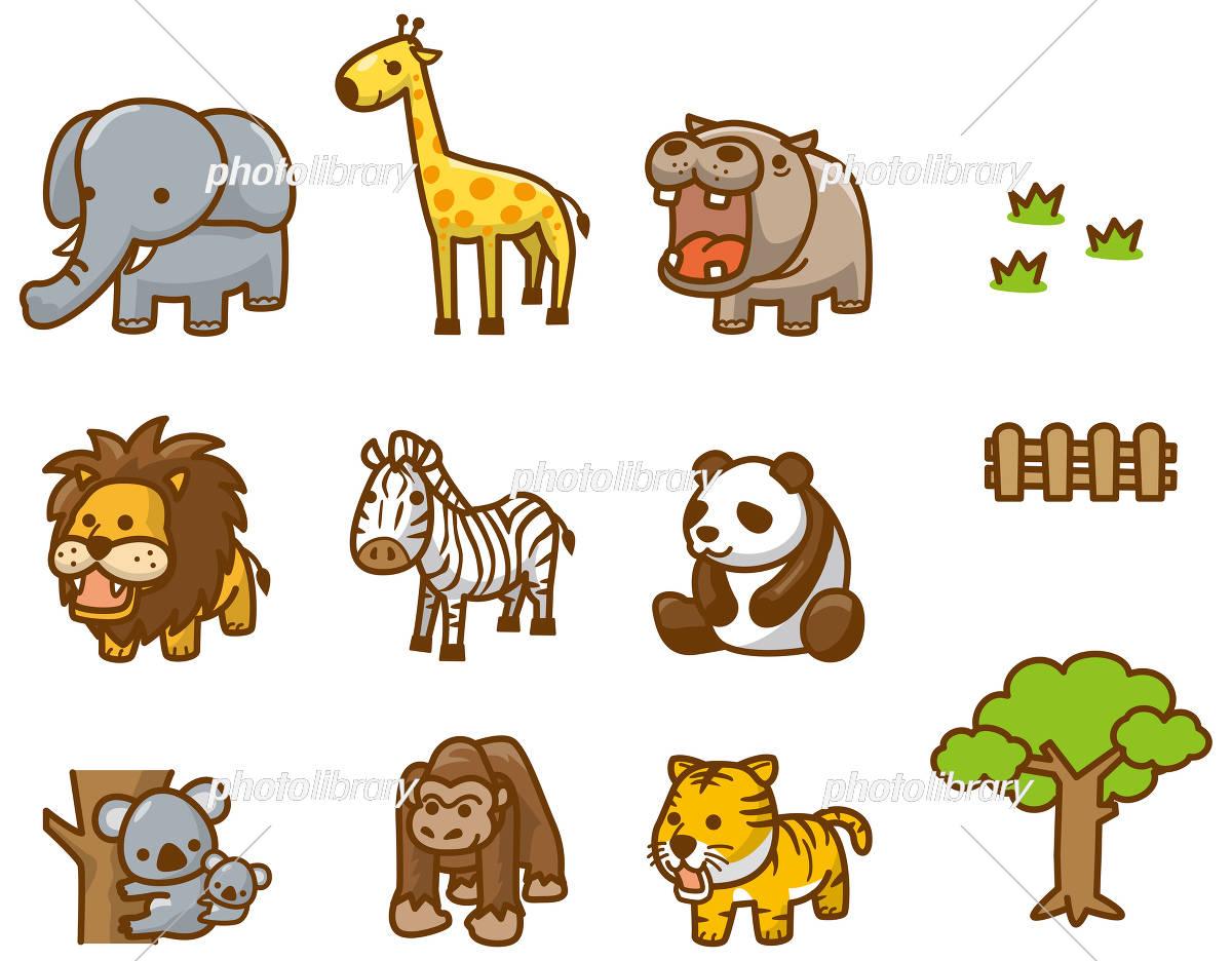 動物園の動物達のイメージイラスト イラスト素材 [ 5635483 ] - フォト