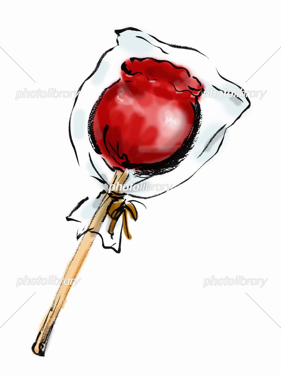 りんご飴 イラスト素材 5666766 フォトライブラリー Photolibrary