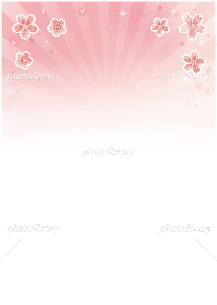 桜吹雪 背景素材 春の日差しと輝き 上部に桜 縦 イラスト素材