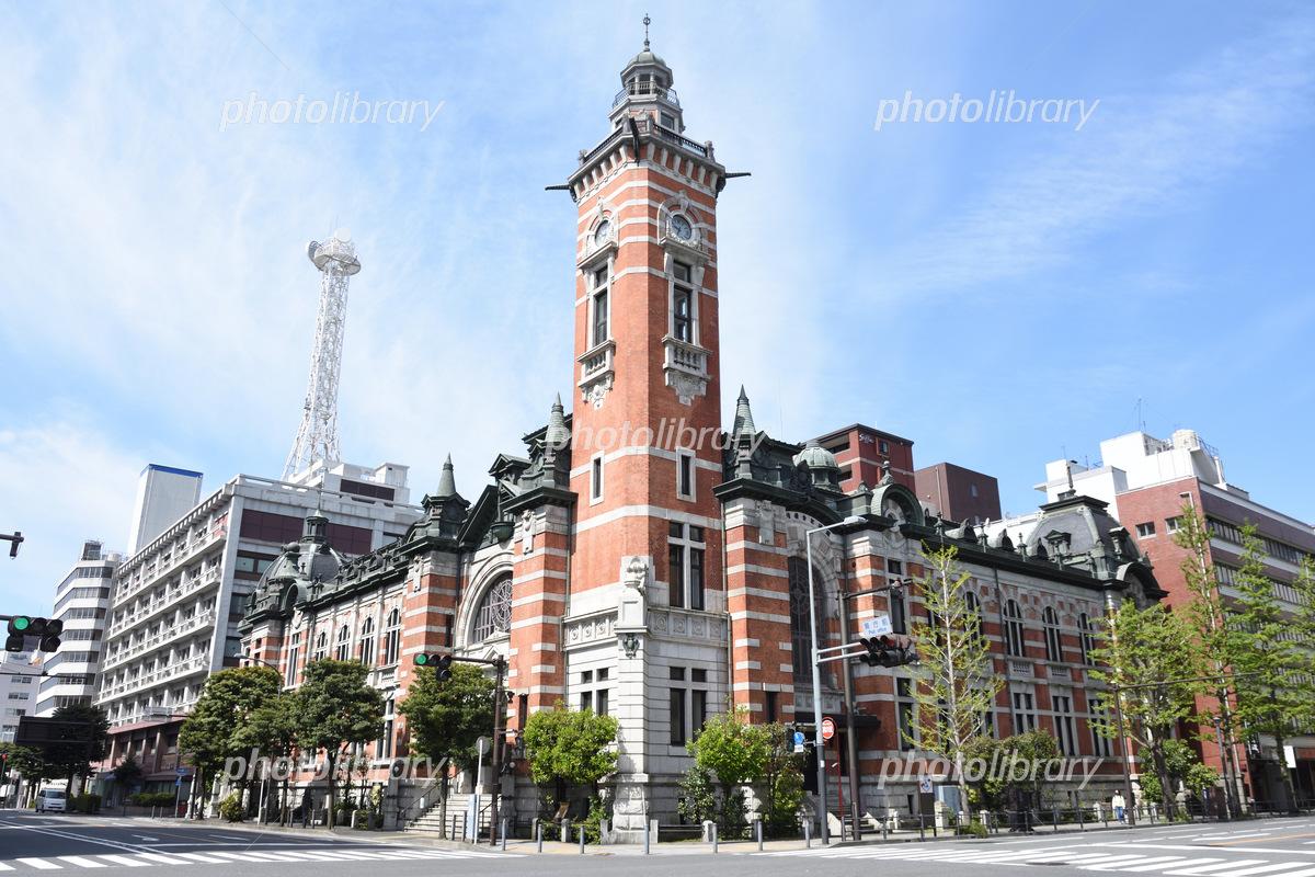 初夏の横浜市開港記念会館  写真素材